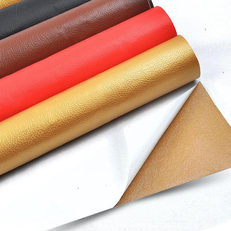 US $15 76 31% OFF|0 5 meter Glue Adhesive Faux Leather Fabric Self  Leatherette Piece Cloth For Chairs Upholstery Seat Furniture Automotive  Sofa-in