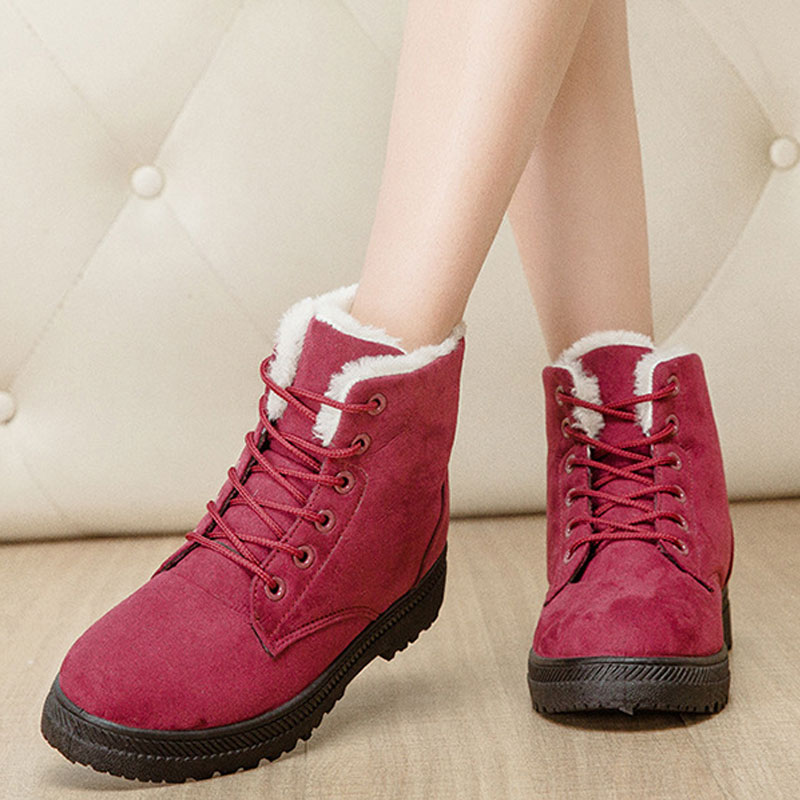 Fashion ankle boots for women 2016 new arrival winter warm snow