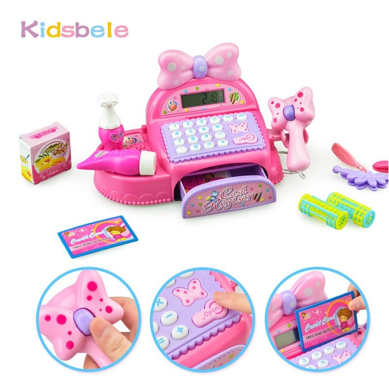 Girls Cash Register Toy Princess Mini Shopping Checkout Real Caculator Simulatio