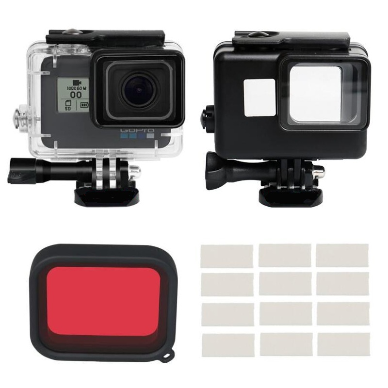 Camera & Photo 45m Waterproof Case Camera Accessories Black Color Waterproof Housing/diving Filter/anti Fog Inserts For Gopro Hero 7 6 5 Black Sports Camcorder Cases