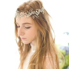 Crystal Beaded Bridal Headband Crown Vintage Handmade Hair Vine Wedding Headpiece Leaf Wedding Hair Accessories 2016