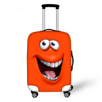 Fashion Spandex Travel Luggage Cover Emoji Smile Face Print Elastic Luggage Cover for 18 30 inch Anti dust Suitcase Cover Zipper