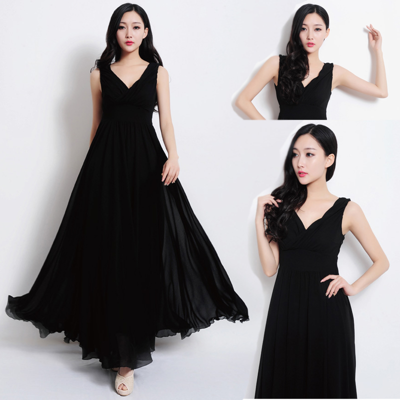 2017 Nice Summer Czech Fairy Tale Elegant And Charming Beach Holiday Dress Sexy Black Dress Skirt