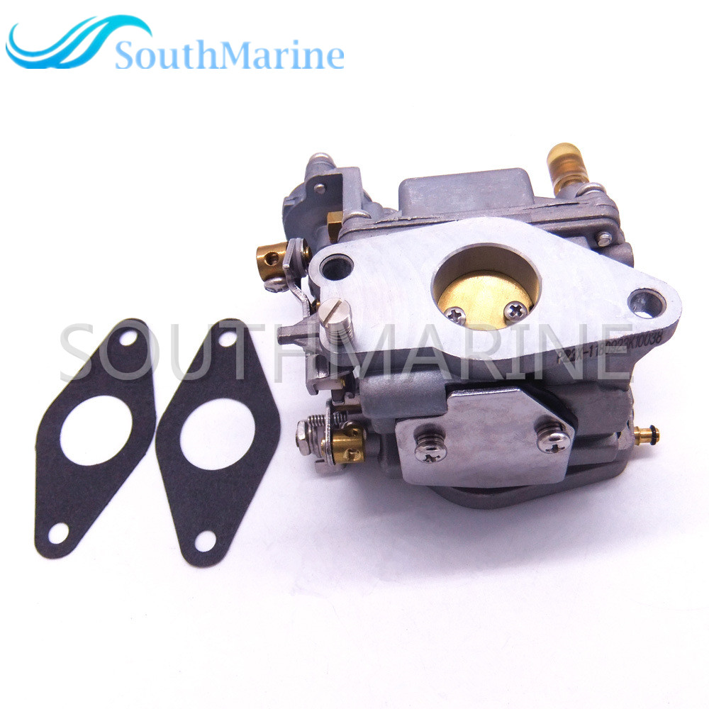 Outboard 66M 14301 12 Carburetor Assy and 66M 13646 00 Gaskets 2 pcs for Yamaha 4