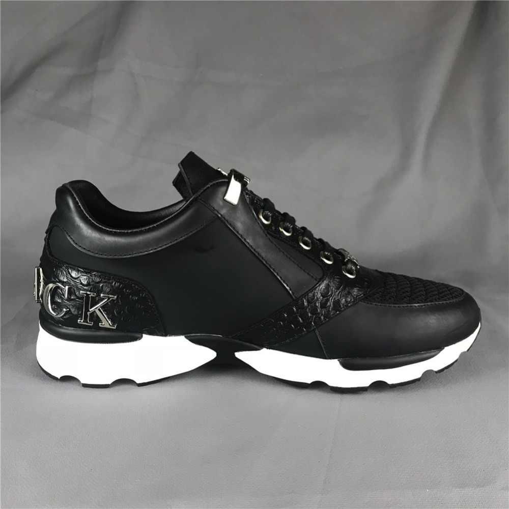 d4f4a14a ... Мужские кроссовки из натуральной кожи F. N. JACK, мужская обувь, модные  кроссовки с черепом, ...