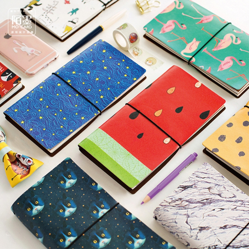 Coloffice 48 Karat 19,5*10 Cm Tier Flamingo Katzen Leopard Star Sky Print Joural Tagebuch Planer Notebook Schreibwaren Schule Büro Geschenke Office & School Supplies Notebooks