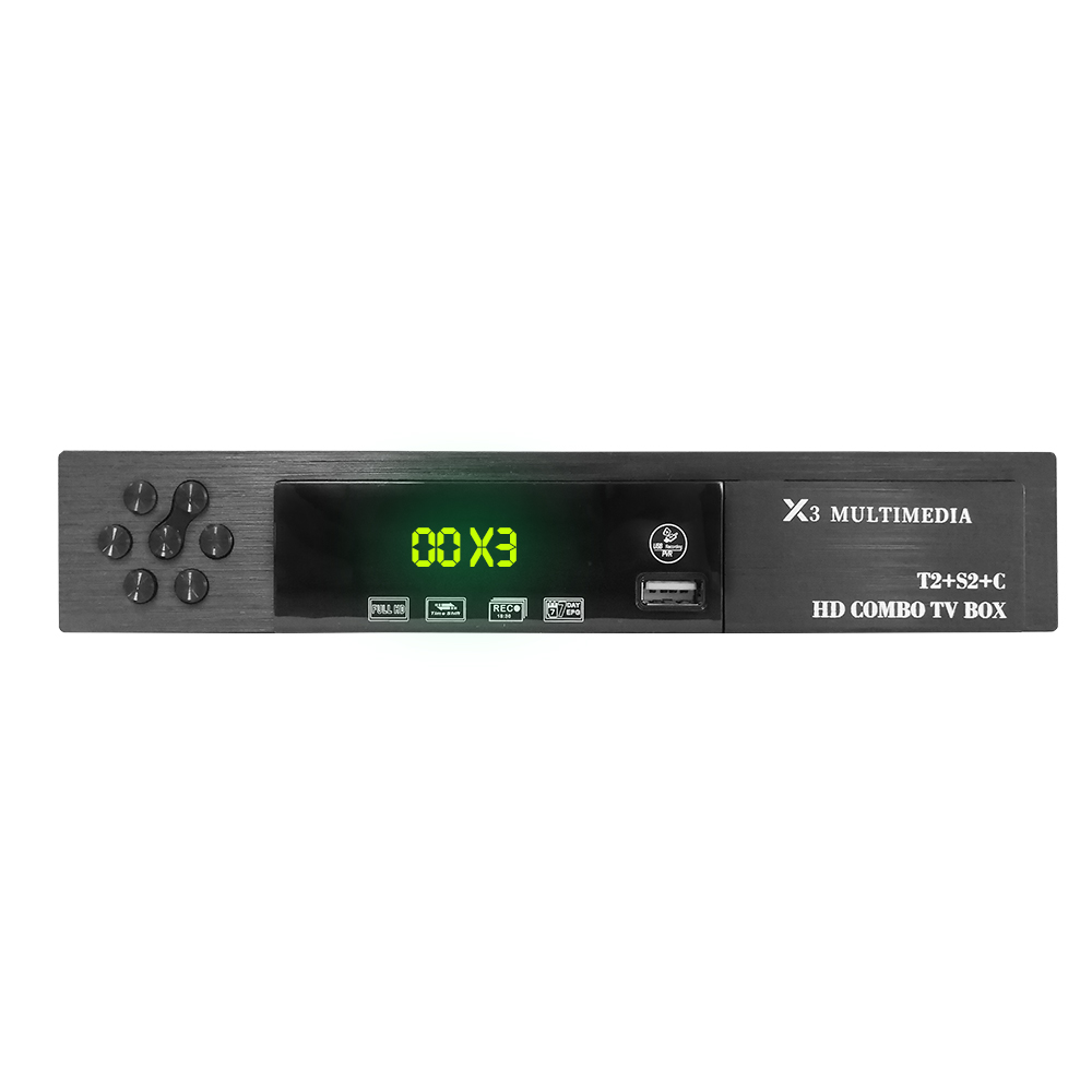 Vmade HD numérique DVB T2 S2 DVB-C prise en charge de la boîte de télévision Dolby AC3 H.264 HD 1080 p DVB T2 S2 TV Tuner + USB WIFI + 1 an Europe CCCAM serveur - 4