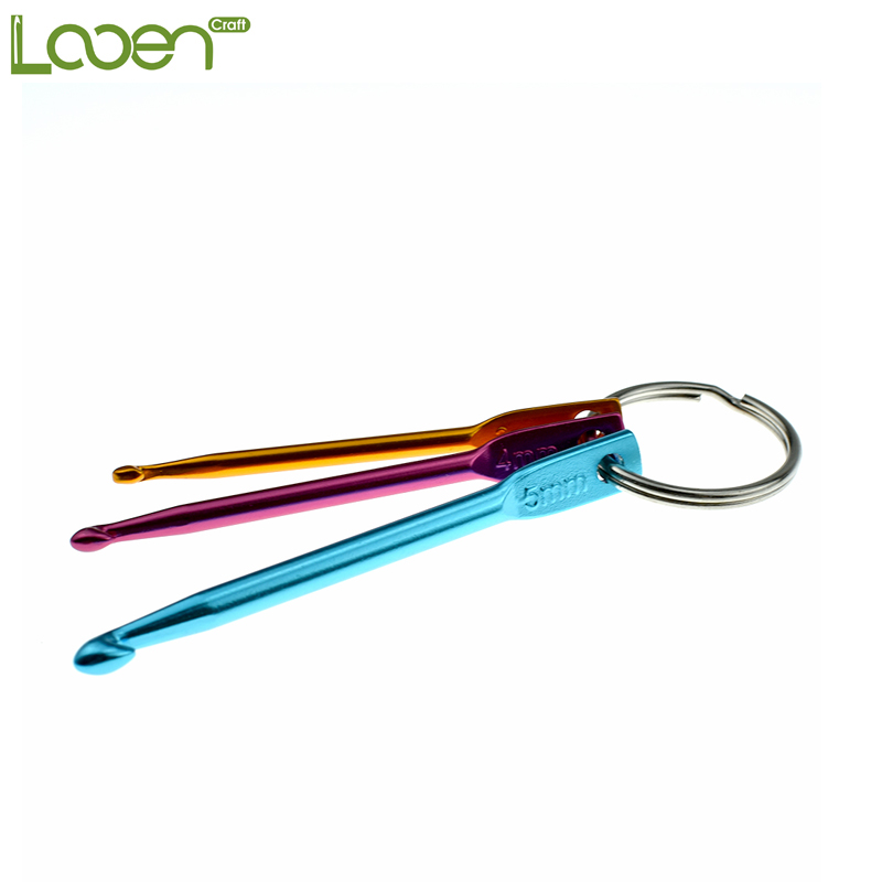 3sizes In 1 Set Keychain Hooks Diy Multicolour Crafts Knitting