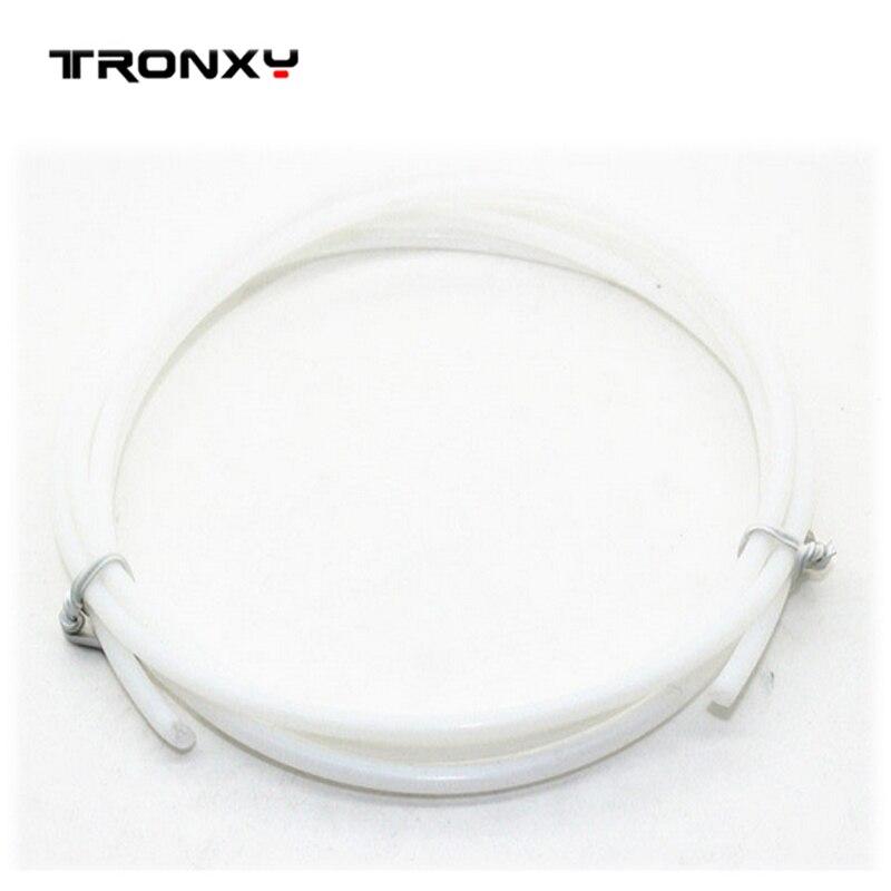 US $2 74 5% OFF|Tronxy 1m prusa i3 3D printer parts 2*4mm PTFE Teflon tube  long distance feed tube 1  75mm impressora 3d Extruder parts -in 3D Printer