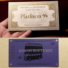 Harri Potter Hogwarts London Express Replica Train Ticket and Knight Bus Ticket 1pcs | Harri Potter Prop Limited Supply(China)