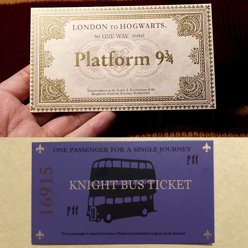 Harry Hogwart London Express Replica Train Ticket And  Knight Bus Ticket 1pcs | HP Prop Limited Supply