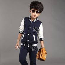 Новые поступления мода детская одежда устанавливает Бейсбол Наборы 2 Шт. (куртка + пэт) для мальчиков девочек весна дети пальто спорт тренажерный зал активная