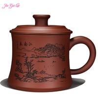 JIA GUI LUO 4300ML Bar Supplies Tea Mugs Purple Clay Pu Er Ceramic Cups Office Cups