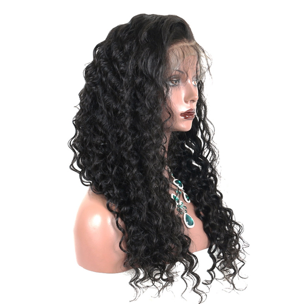 250% Loose Wave Lace Front Human Hair Parykker For Women Natural - Menneskehår (sort) - Foto 3