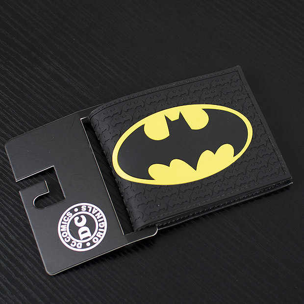 DC Marvel Comics Men PVC Wallet 3.45 inch Dollar Bags Batman Anime Prints Card Holder Purse Leather Black Wallets billeteras