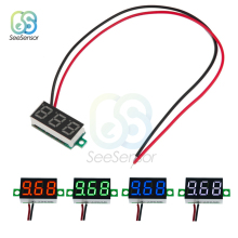 цена на 0.36 Inch Mini LED Digital Voltmeter Voltage Meter 2 Wires DC 4.7V 32V 3-Digit Display Red/Green/Blue/White Panel