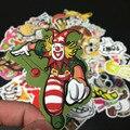 50 unids Mezclados hit divertido pegatinas para niños en frigorífico skateboard laptop sticker decal pegatinas doodle de juguete No entrega al azar