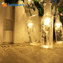 Фотография LumiParty 4.2M 40LED Light String Creative Transparent Wine Bottle Shape Battery Fairy String Light Decoration Lamps