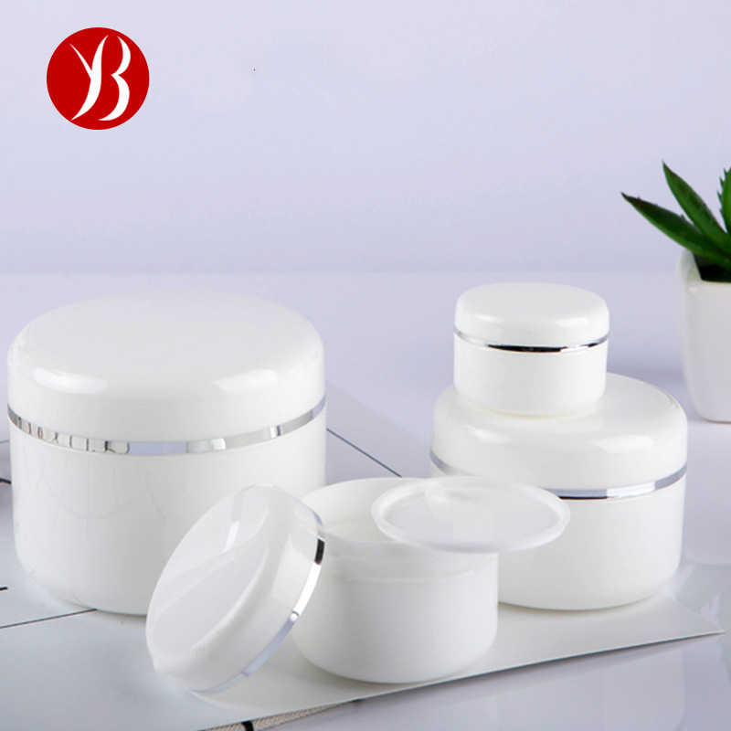 20/30/50/100/150/250g White Refillable Bottles Face Cream Container Empty Lotion Cosmetic Bottles Travel Use Makeup Jar