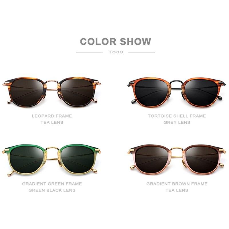 FONEX pur B titane acétate lunettes de soleil polarisées hommes 2019 nouvelle marque de mode Designer Vintage carré lunettes de soleil pour les femmes - 5