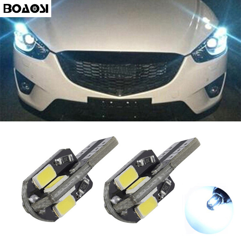 BOAOSI 2x Car T10 w5w <font><b>LED</b></font> 5730SMD Width Lamp light for <font><b>mazda</b></font> 3 6 emblem atenza spoiler <font><b>cx7</b></font> rx8 cx-5 cx5 cx 5 6 3 Axela image