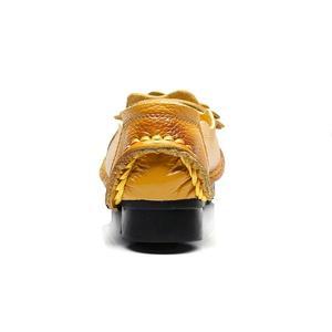 Image 4 - Nouveau Vintage à la main Style populaire femmes chaussures plates chaussures décontractées en cuir véritable dame chaussures à fond souple pour la mère mocassins de mode
