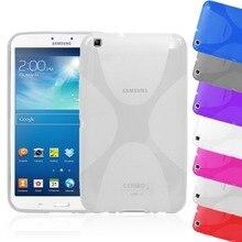 Clear Gel suave de X de Tpu Funda de Silicona Semi Transparente Contraportada de la piel Para Samsung Galaxy Tab 3 P8200 8.0 T310 T311 Tab3 8″