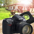 Горячая! камеры Аксессуары Универсальный DSLR Камеры Уровень Пузыря Дух + Горячий Башмак Защитная Крышка для Nikon Canon Casio Fuji Samsung