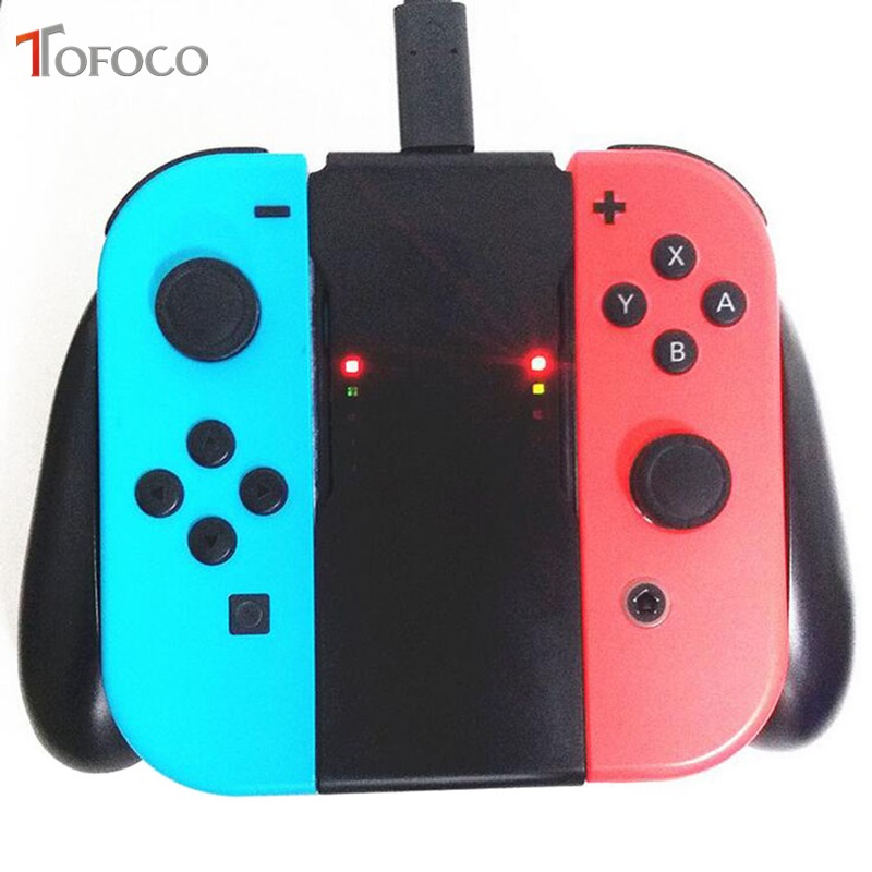 Grip Handle Charging Dock Station Charger Chargeable Stand Holder for Nintend Switch NS Joy-Con Handle Bracket
