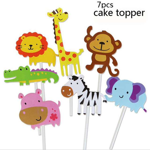 1 set cake topper Monkey 1st birthday decorations 5c64f9ae5e140