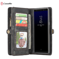 CASEME Zipper Wallet Case For Samsung Galaxy Note 8 Phone Bag Luxury Leather Cover Flip Book