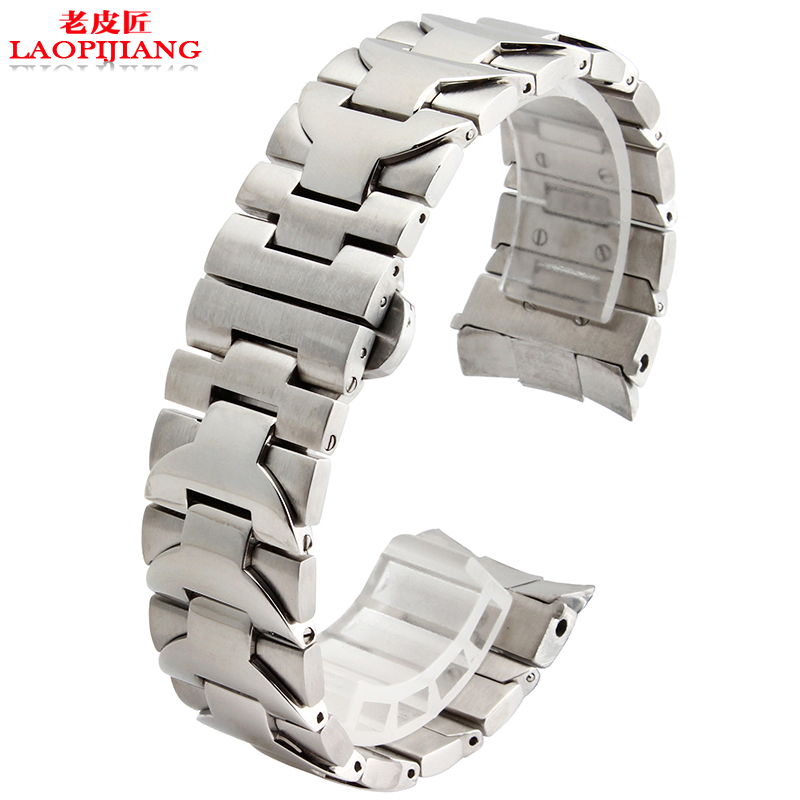 Fit <font><b>PAM</b></font> 22mm 24mm High quality silver Solid Stainless Steel Watchband Watch Strap <font><b>Bracelet</b></font> Men Luxury brand mechanical watches image