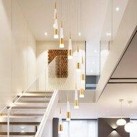 Obrotowy przedpokoju foyer sztuka akrylowa deco schody złoty niestandardowy spiralny nowoczesny wiszący żyrandol oprawy oświetleniowe na wysokie sufity w Żyrandole od Lampy i oświetlenie na