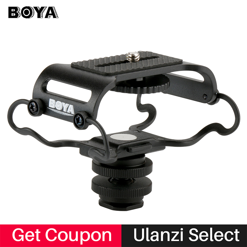 BOYA BY-C10 Microphone Shock mount Digital Recorder Microfone Shockmount for Zoom H1/H4n/H5/H6 Sony PCM-M10 Tascam DR-40 DR-05(China)