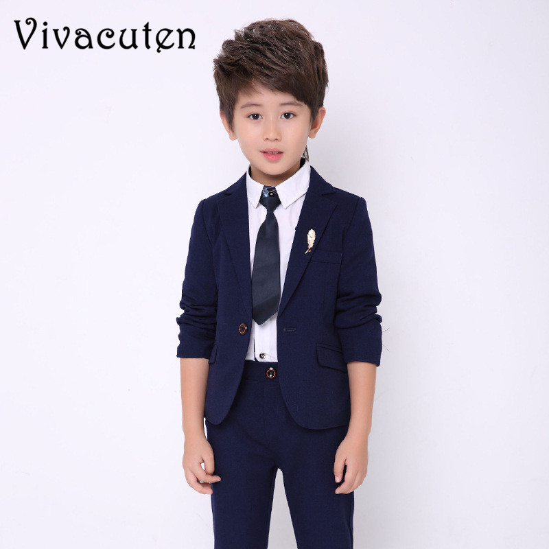 Flower Boys Formal Suit Set Wedding Kids Blazer Shirt Pants 3pcs Set Clothing Children Costume Dress Groom Clothes Set F010Flower Boys Formal Suit Set Wedding Kids Blazer Shirt Pants 3pcs Set Clothing Children Costume Dress Groom Clothes Set F010