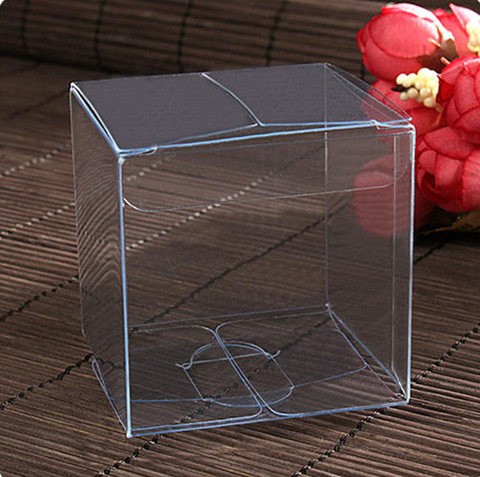 20pcs 5*5*5cm Transparent Waterproof PVC Boxes Packaging Small Plastic Clear Box Storage For Food/jewelry/Candy/Gift/cosmetics
