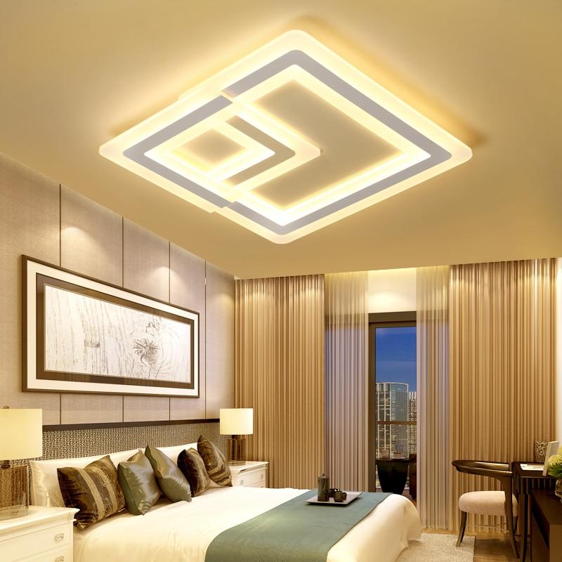 Ultra-thin Acrylic Modern led ceiling lights for living room bedroom Plafon Luminarine decorative remote controls ceiling lamp ultra living ultra living monochromatic adventure