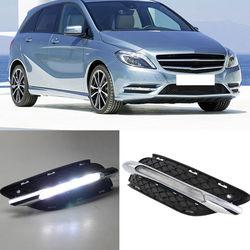Dla Mercedes Benz W245 B180 B200 2011 2013 biały LED światło do jazdy dziennej DRL w Zestawy karoserii od Samochody i motocykle na