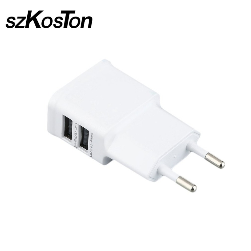 5V 2A 2 USB Charge for Tablet Mobile Phone EU Dual Wall Charge Adapter for iPhone X Huawei P10 P9 P8 lite