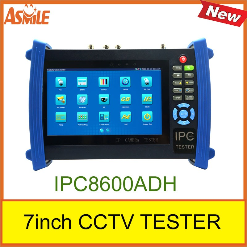 IPC8600AHD ONVIF CCTV Tester with 7 inch Touch Screen Multifunction IP Camera CCTV Tester support WIFI POE