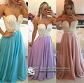 5071 de largo cordón de perlas Sweatheart arco de noche vestidos de baile vestido largo Maxi más el tamaño 2 4 6 8 10 12 14 16 18 20 22 24 26