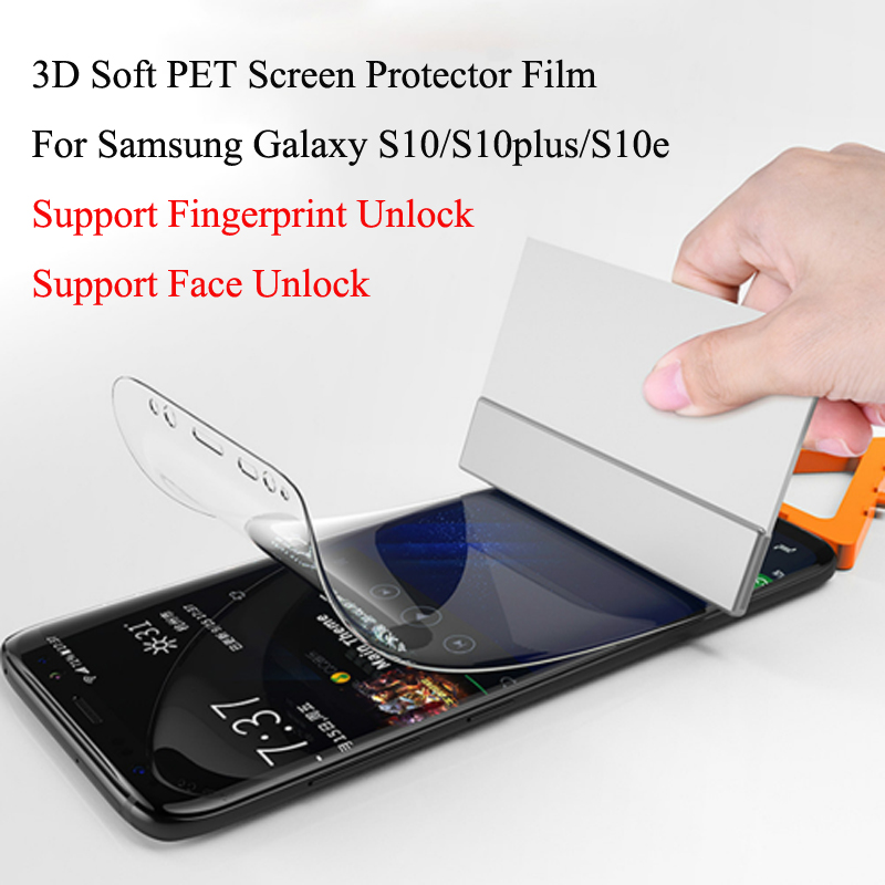 50pcs lot 3D Soft PET Screen Protector Film For Samsung Galaxy S10 S10plus Comprehensive protection screen