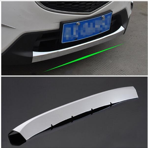 For Mazda CX-5 2015 2016 Front Bumper Grille Protector Head Grill Sill Strip Cover Trim Chrome CX5 CX 5 Car-styling Accessories automobile car styling accessories chromium 2014 17 modified bumper grille trim strip grid decorative bright for toyota vios