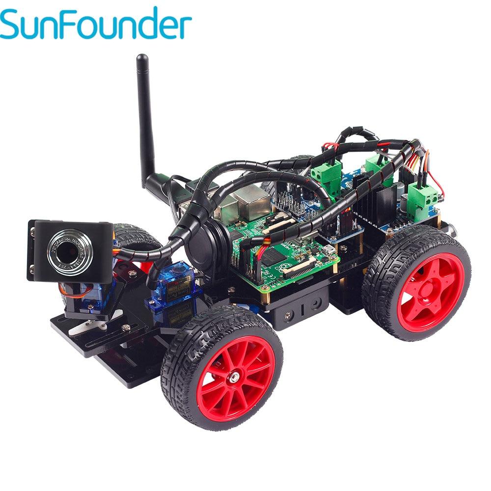 SunFounder inteligente Video coche Kit Raspberry Pi DIY Kit de Robot para niños adultos Compatible con Raspberry Pi Modelo B 3B + 3B 2B