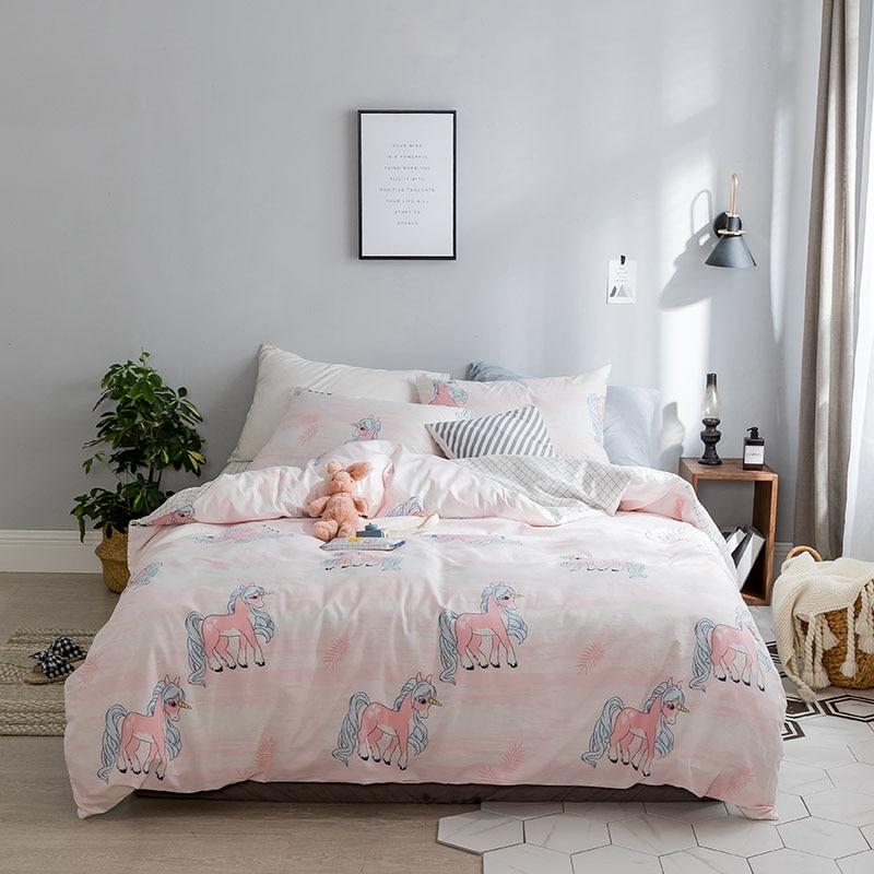 Suitable For Harajuku Cute Little Girl Bedding 3 4pcs Duvet Cover