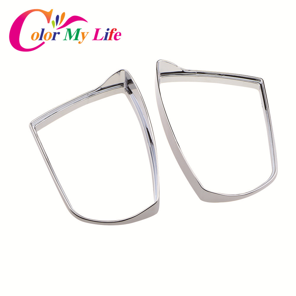Color My Life Car Chrome Rearview Mirror Protection Cover Rear View Mirror Sticker for Ford Ecosport Kuga Escape 2012 - 2017