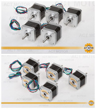 Free Ship From Germany! ACT 10PCS Nema17 Stepper Motor 17HS5412-3 2Phase 73oz-in 48mm 1.3A 4-lead 3D printer CE ROSH ISO