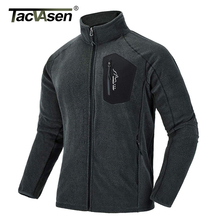 TACVASEN Thin Military Fleece Jacket Coat Winter Men Thermal Fleece Ja