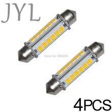 4PCS 42MM 24-2835-SMD LED Bulbs Interior Dome Light Warm White, 1.65 Festoon 211-2, 212-2, 214-2, 560,