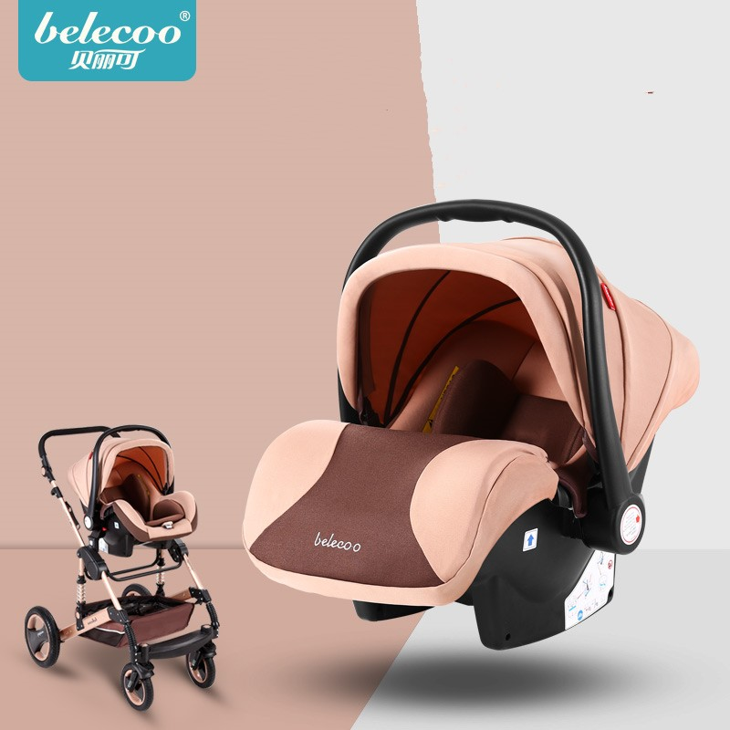 Removable washable portable basket type adjustable safety seat awning integrated car safety seat 55cm 43cm 68cm kids basket type child car safety seat newborn baby sitting type safety seat inflant safety seat